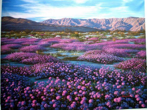 Розы живопись маслом лесной пейзаж