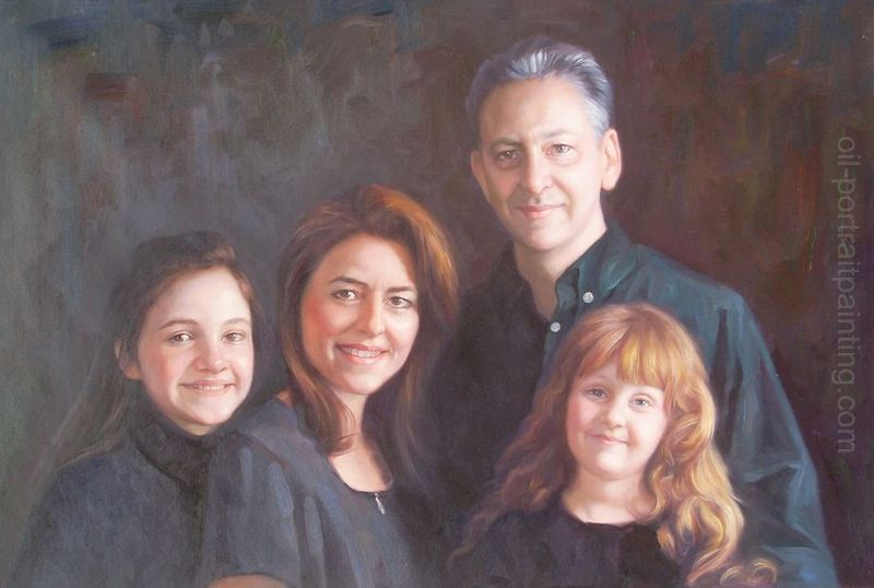 portrait painting photo to painting family oil portrait