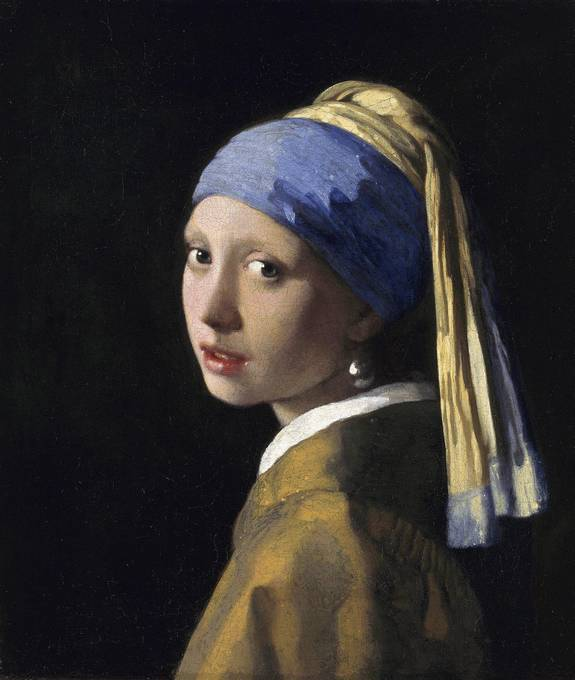 Portrait painting of the girl with a pearl earring by for Johannes vermeer girl with a pearl earring